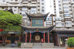 17. Mai 2017 Lanzhou China Leute und alter Bezirk in der Stadt von Lanzhou China Stockbild