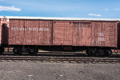 11. Mai 2015 Nevada Northern Railway Museum, Ost-Ely Stockfotografie
