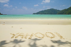 Mai ngam beach in Surin Islands national park Royalty Free Stock Photo