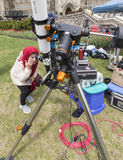 10 mai 2016 - Ottawa, Ontario - Canada - transit de Mercury du soleil Photos libres de droits