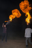 3 mai 2014 Oulan-Oude, Russie : une exposition du feu dans la ville d'Ulan-U Photographie stock
