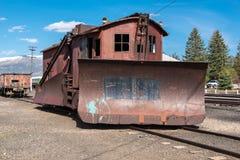 11. Mai 2015 Schnee-Pflug, Nevada Northern Railway Museum, Ost-Ely Lizenzfreies Stockfoto