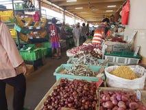 1. Mai Seremban, Malaysia Hauptmarkt bekannt als Pasar Besar Seramban während des Wochenendes lizenzfreie stockfotografie