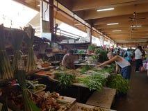 1. Mai Seremban, Malaysia Hauptmarkt bekannt als Pasar Besar Seramban während des Wochenendes Lizenzfreie Stockfotos