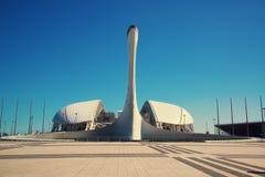 21. Mai 2017 Sochi, Russland Fackel der olympischen Flamme im O Stockfotografie