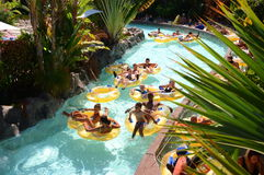 Mai Thai River in Siam Park in Costa Adeje on Tenerife Royalty Free Stock Images