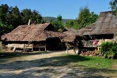 MAI van Chiag, Thailand: Houten Thaise Woningen Royalty-vrije Stock Fotografie