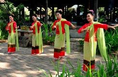 MAI van Chiang, Thailand: De Dansers van Khong Stock Foto