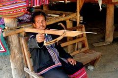 MAI van Chiang, Thailand: Mens met Boog & Pijl Stock Fotografie