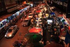 MAI van de Warorosmarkt chiang in de nacht Stock Foto's