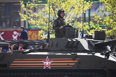 9. Mai Victory Day-Straße neues arbat Lizenzfreie Stockfotos