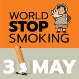 31. Mai Weltendist das rauchen Tag Lizenzfreies Stockfoto