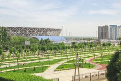 23. Mai 2018 Wolgograd, Russland Neue Fußballstadion Wolgograd-Arena Stockbild