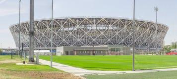 23. Mai 2018 Wolgograd, Russland Neue Fußballstadion Wolgograd-Arena Lizenzfreies Stockfoto