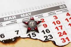 9. Mai zu Victory Day Stockbild