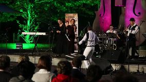 Maia Morgenstern and  Bucharest Klezmer band stock video