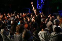 Maia Morgenstern onder de menigte van toeschouwers Stock Afbeelding
