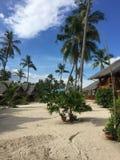 Maia plaża w Bantayan wyspie Filipiny Zdjęcia Royalty Free