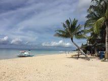 Maia plaża w Bantayan wyspie Filipiny Zdjęcia Stock