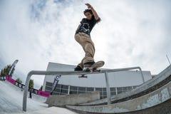 Matheus Freitas during the 4th Stage DC Skate Challenge Royalty Free Stock Images