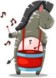 Maiale che gioca violino illustrazione di stock