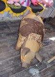 Maiale del giocattolo di tessuto e di lana immagini stock libere da diritti