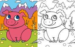 Maiale del libro di coloritura Immagine Stock