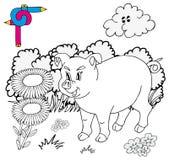 Maiale di immagine di coloritura Royalty Illustrazione gratis