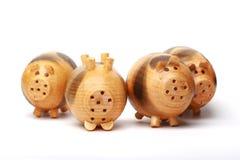 Maiale di legno Fotografia Stock