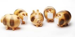 Maiale di legno Immagine Stock