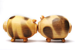 Maiale di legno Immagini Stock