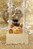 Maiale di nuovo anno felice Fotografie Stock