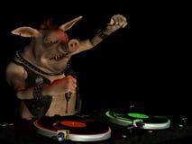 Maiale DJ di Punky Immagini Stock