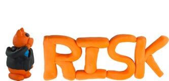 Maiale e gestione dei rischi dell'uomo d'affari Fotografie Stock
