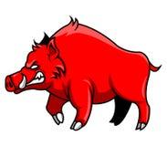 Maiali di rosso illustrazione di stock