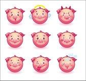 Maiali di smiley Fotografie Stock