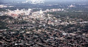 Maiami city state florida usa air view panorama stock image