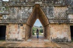 Maian ruins in Uxmal in Yucatan Royalty Free Stock Photo