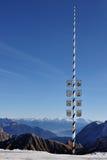 Maibaum am Zugspitze Gletscher Lizenzfreie Stockbilder