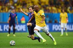 Maicon and Daley Blind Coupe du monde 2014 Royalty Free Stock Photos