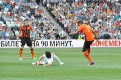 Maicon kick the ball over the opponent Stock Image