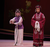 "The maid been rumbled-Kunqu Opera ""the West Chamber"" Royalty Free Stock Image"
