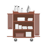 Maid cart icon. Flat design. Object on a white background royalty free illustration
