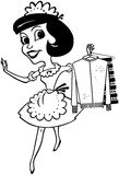 Maid With Clean Clothes Royalty Free Stock Image