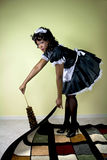 Maid cleaning Royalty Free Stock Photo