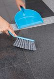 Maid Cleaning The Floor Stock Photography