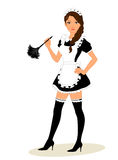 Maid costume Stock Image