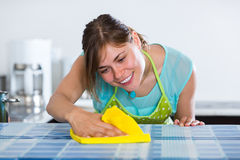 Maid doing professional clean-up Royalty Free Stock Photo