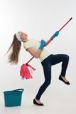 Maid and household chores Stock Images