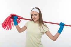 Maid and household chores Royalty Free Stock Image